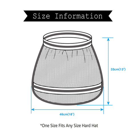 EvridWear Hard Hat Sun Shade Shield for Construction, Outdoor Activities, UV Protection