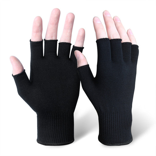 EvridWear Silk Fingerless Gloves ECO-Friend Liner Anti-UV Hypoallergenic