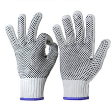 Load image into Gallery viewer, EvridWear 12 Pairs Pack Cotton Polyester String Knit Work Gloves with both side dots