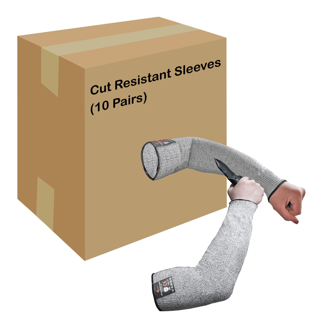 Evridwear 10 Pairs Cut Resistant Sleeves Without Thumb Hole