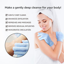 Load image into Gallery viewer, EvridWear Exfoliating Dual Texture Bath Gloves for Shower, Spa, Massage and Body Scrubs, Dead Skin Cell Remover, Gloves with hanging loop-EvridWearUS