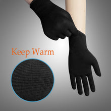 Load image into Gallery viewer, EvridWear Men Women Merino Wool String Knit Liner Warm Gloves 4 Sizes (Black)