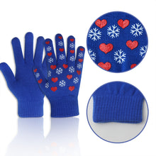 Load image into Gallery viewer, EvridWear Boys Girls Snowflake Print Magic Stretch Gripper Gloves 3 Pairs Pack