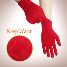 Load image into Gallery viewer, EvridWear Red Merino Wool String Knit Liner Gloves