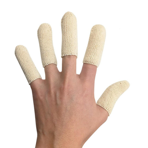 EvridWear Cotton Elastic Blend, Finger Toe Cots Sleeves Thumb Fingertips Protector, Cushion, Moisture-Wicking (Short 2' or Long 3