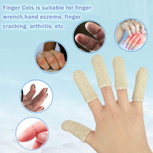"Load image into Gallery viewer, EvridWear Cotton Elastic Blend, Finger Toe Cots Sleeves Thumb Fingertips Protector, Cushion, Moisture-Wicking (Short 2' or Long 3"")-EvridWearUS"