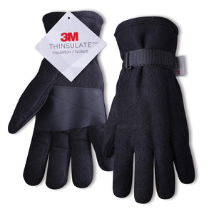 EvridWear 3M Thinsulate Thermal Polyester Fleeced Winter Gloves Liners with adjustable velcro wrist straps-EvridWearUS