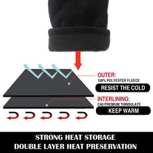 Load image into Gallery viewer, EvridWear 3M Thinsulate Thermal Polyester Fleeced Winter Gloves Liners with adjustable velcro wrist straps-EvridWearUS
