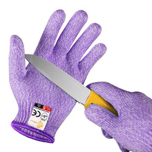 Load image into Gallery viewer, EVRIDWEAR Kid Sized Cut Resistant Work Gloves for Kitchen Use, Crafts, DIY, Garden and Yard works (Purple)-EvridWearUS