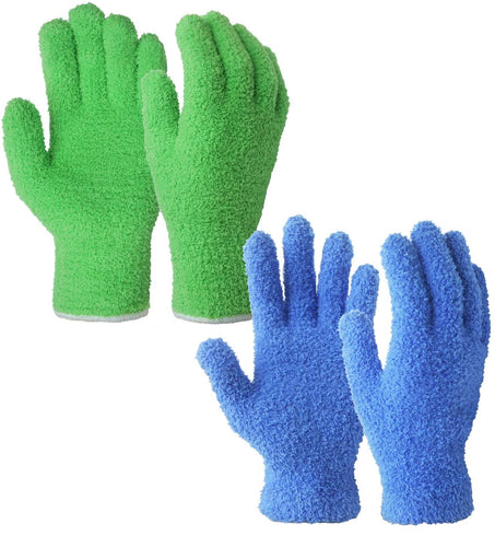 Evridwear Microfiber Auto Dusting Cleaning Gloves for Cars and Trucks, Dust Cleaning Gloves for House Cleaning-EvridWearUS