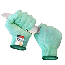 Load image into Gallery viewer, EVRIDWEAR Cut Resistant Gloves, Food Grade Level 5 Safety Protection Kitchen Cuts Gloves For cutting, Chopping, Fish Fillet, Mandolin Slicing and Yard-Work (Green)