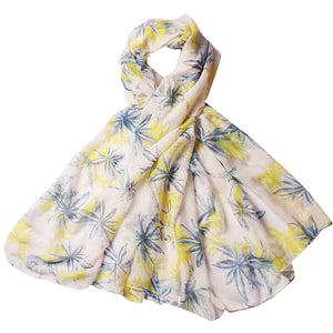 Women Lightweight Scarves Shawl Wraps with Floral Print for Spring Fall Holiday
