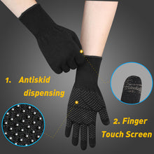 Load image into Gallery viewer, EvridWear Merino Wool Liner Gloves with Touchscreen and PVC Dotted Grips