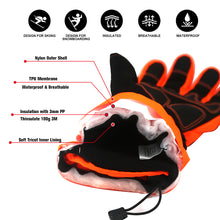Load image into Gallery viewer, Evridwear Ski & Snowboard Winter Warm Gloves Waterproof for Cold Weather and Outdoor Sport (Orange)