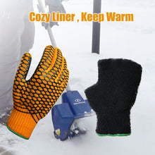 Load image into Gallery viewer, EvridWear Double Layer String Knit Work Gloves with Crisscross Honeycomb Grip Two Sides and Cozy Liner-EvridWearUS