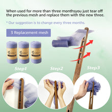 Load image into Gallery viewer, EvridWear Exfoliating Back Scrubber Heavy Duty Bath Sponge Shower Long Teak Wood Handle Replaceable Mesh Skin Disorders Smooth Body Style (Brush with Pouf)