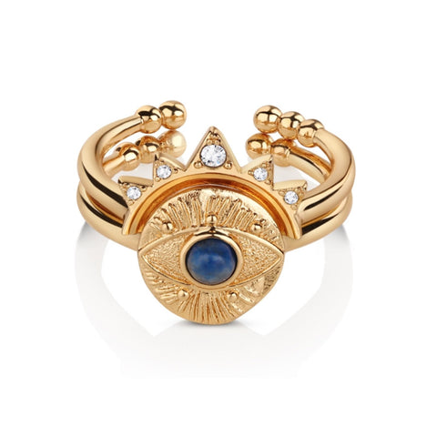 Buy Newbridge Silverware All Seeing Evil Eye Stacking Rings - Salmons Gifts, Ballinasloe, Galway, Ireland