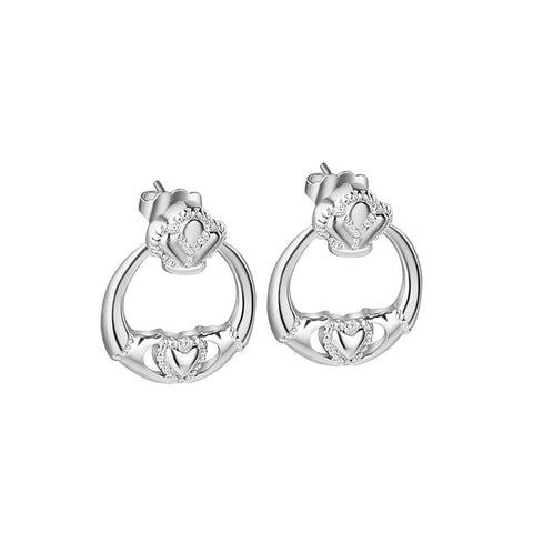 Newbridge Silverware Claddagh Earrings - Salmons Gifts, Ballinasloe, Galway