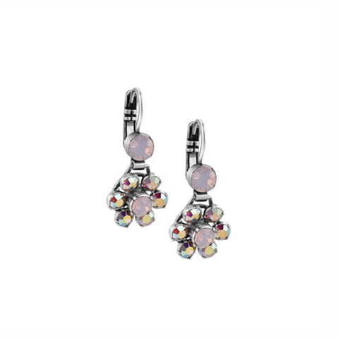 Buy Newbridge Silverware Floral Earrings with Rose Stone Settings online - Salmons Gifts, Ballinasloe, Galway, Ireland