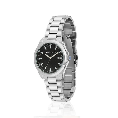 Buy Newbridge Silverware Mens Watch With Black Dial And Link Bracelet online - Salmons Gifts, Ballinasloe, Galway, Ireland