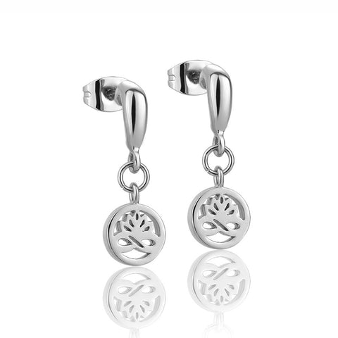 Buy Newbridge Silverware Silver Plated Lotus Stud Earrings online - Salmons Gifts, Ballinasloe, Galway, Ireland