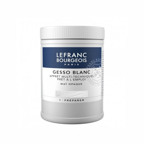 Lefranc & Bourgeois White Gesso 500ml - Salmons Art Supplies, Ballinasloe, Galway