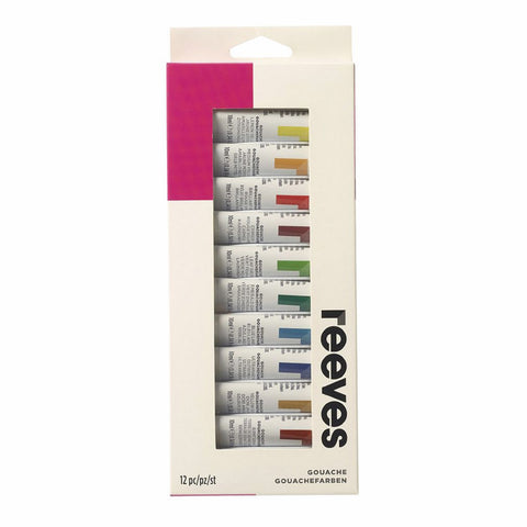 Reeves Gouache (12 x 12ml) - Salmons Art Supplies, Ballinasloe, Galway