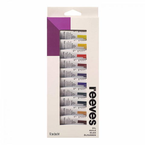 Reeves Oil Paint (12 x 12ml) - Salmons Art Supplies, Ballinasloe, Galway