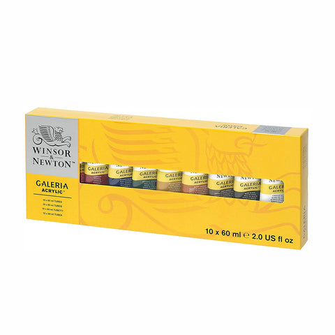Windsor & Newton Galeria Acrylic 10 x 60ml - Salmons Art Supplies, Ballinasloe, Galway