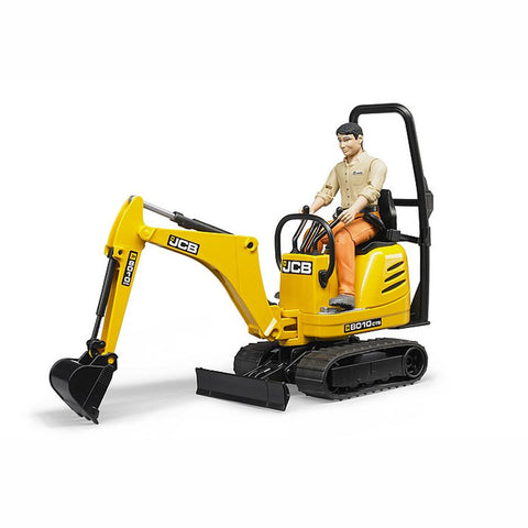 Bruder JCB Micro excavator 8010 CTS and man - Salmons Toy Store, Ballinasloe, Galway