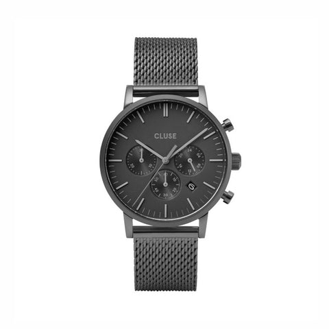 Buy Cluse Aravis Chrono Mesh Full Black watch online - Salmons Gifts, Ballinasloe, Galway, Ireland