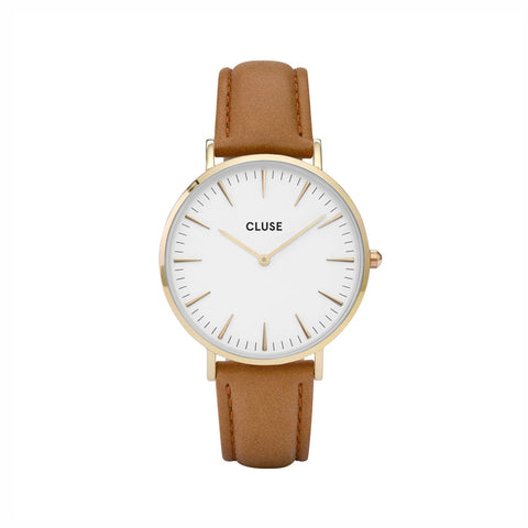 Buy Cluse La Boheme Caramel Leather Watch online - Salmons Gifts, Ballinasloe, Galway, Ireland