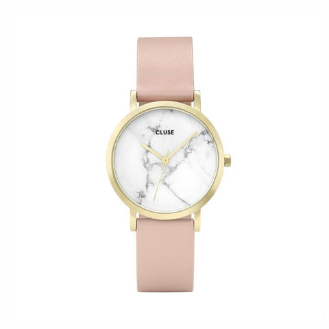 Buy Cluse La Roche Petite Gold/White Marble/Nude watch - Salmons Gifts, Ballinasloe, Galway, Ireland