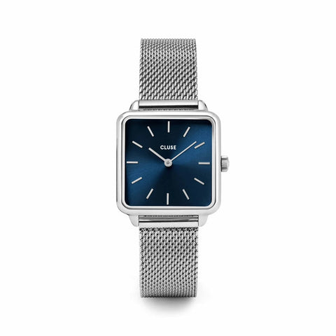 Buy Cluse La Tétragone Mesh Blue, Silver Colour watch online - Salmons Gifts, Ballinasloe, Galway, Ireland