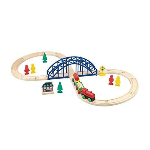 First Learning Figure 8 Wooden Train Set 35 Piece  - Salmons Department Store, Ballinasloe, Galway