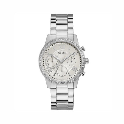 Buy Guess Ladies Analogue Classic Quartz Watch with Stainless Steel Strap - W1069L1 online - Salmons Gifts, Ballinasloe, Galway, Ireland