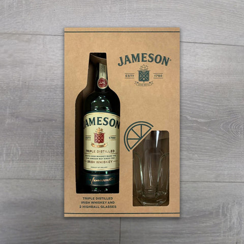 Buy Jameson Whiskey & 2 Highball Glasses Giftset online - Salmons Wines & Spirits, Ballinasloe, Galway, Ireland
