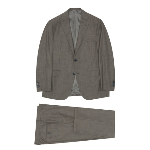 BELVEST Handmade in Italy Gray Wool Super 110's Suit EU 52 NEW US 42