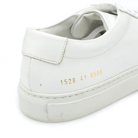 COMMON PROJECTS 1528-0506 White Achilles Low Sneakers Shoes EU 41 US 8.5