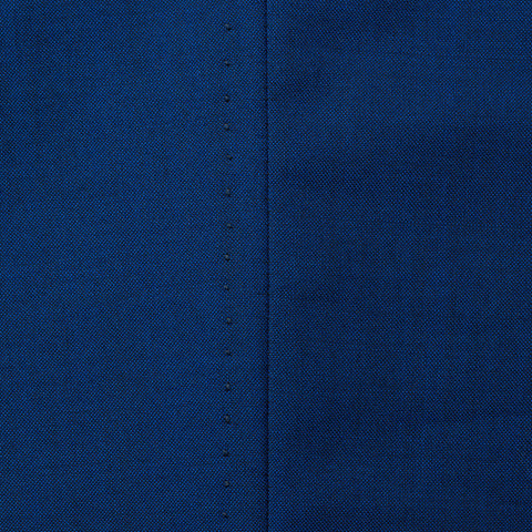 Sartoria CHIAIA Bespoke Blue Wool Double Pleated Dress Pants EU 52 NEW US 36