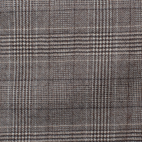 BELVEST Handmade in Italy Gray Plaid Wool Super 120's Suit EU 54 NEW US 44