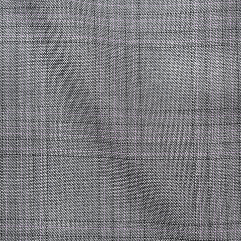 CESARE ATTOLINI Napoli Handmade Gray Plaid Wool Silk Suit NEW