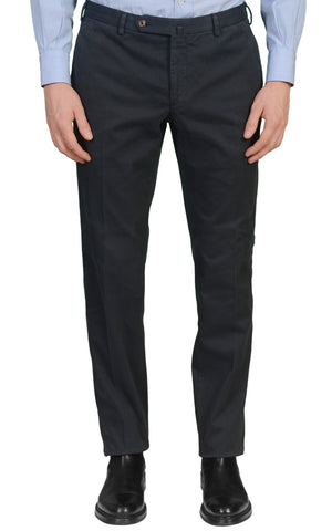 INCOTEX (Slowear) Anthracite Cotton Twill Stretch Flat Front Slim Fit Pants NEW
