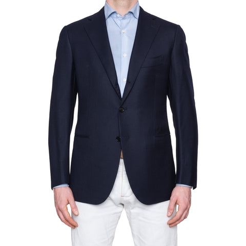 CESARE ATTOLINI for M. BARDELLI Blue Cashmere Wool Super 130's Jacket 50 NEW 40