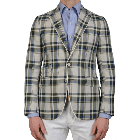 "BOGLIOLI Milano ""York"" Multi-Color Plaid Silk Blazer Jacket EU 48 NEW US 38"