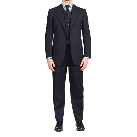 AVI ROSSINI Handmade Navy Blue Wool 3 Piece Suit EU 48 NEW US 38 Luxury