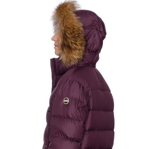 COLMAR Down-Feather Fur Trimmed Hooded Parka Jacket Coat US M NEW EU 50