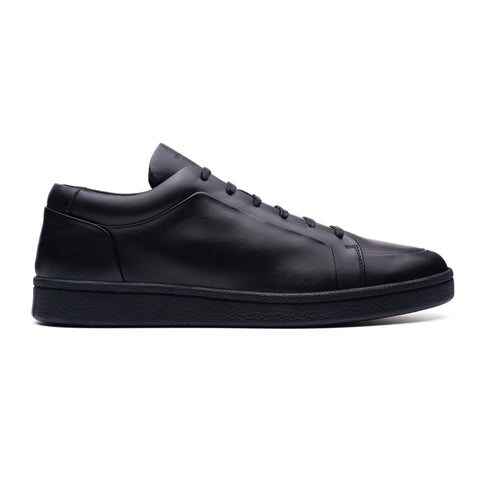 BALENCIAGA Black Calfskin Leather Low-Top Sneaker Shoes FR 41 US 8 NEW with Box