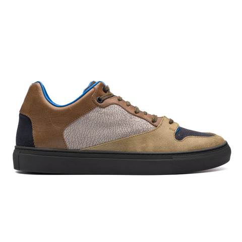 BALENCIAGA Paneled Leather Nubuck Low-Top Sneaker Shoes FR 42 US 9 NEW Box