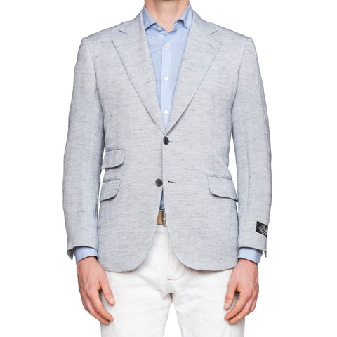 BELVEST Light Gray Linen Jacket Sport Coat EU 50 NEW US 40